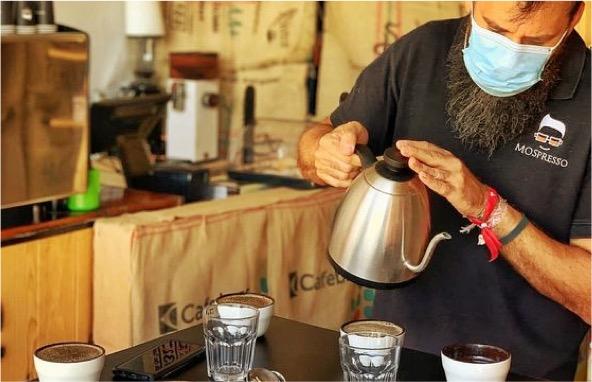 Montamos nuestra barra de café en cualquier evento o catering